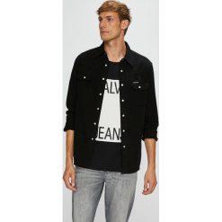 Calvin Klein Jeans - Koszula. Szare koszule męskie Calvin Klein Jeans, z jeansu, z długim rękawem. Za 359.90 zł.