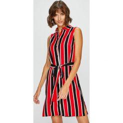 Answear - Sukienka. Szare sukienki damskie ANSWEAR, z tkaniny, casualowe. W wyprzedaży za 89.90 zł.