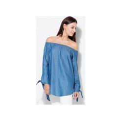 Bluzka K377 Niebieski. Niebieskie bluzki damskie Katrus, z bawełny. Za 119.00 zł.