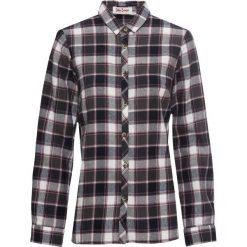 Koszula flanelowa, długi rękaw bonprix czarno-biały w kratę. Białe koszule damskie bonprix, z długim rękawem. Za 74.99 zł.
