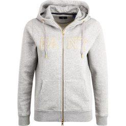 GANT GOLD FULL ZIP HOODIE Bluza rozpinana grey melange. Kardigany damskie GANT, z bawełny. W wyprzedaży za 377.40 zł.