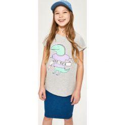 T-shirt z dinozaurem - Jasny szar. T-shirty damskie marki bonprix. W wyprzedaży za 14.99 zł.