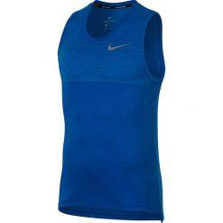 """Koszulka """"Medalist"""" w kolorze niebieskim do biegania. Bokserki męskie Nike Men, z materiału, z długim rękawem. W wyprzedaży za 152.95 zł."""