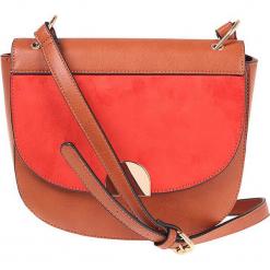 """Torebka """"Acco"""" w kolorze brązowo-czerwonym - 24 x 22 cm. Brązowe torby na ramię damskie Scottage. W wyprzedaży za 72.95 zł."""