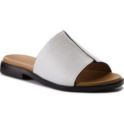 Klapki KAZAR - Fontana 32563-01-01 White. Białe klapki damskie Kazar, ze skóry. W wyprzedaży za 259.00 zł.