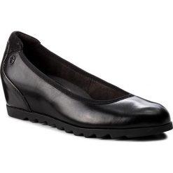 Półbuty TAMARIS - 1-22421-21 Black Leather 003. Czarne półbuty damskie Tamaris, z materiału. Za 249.90 zł.