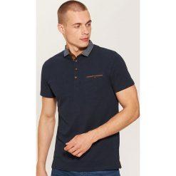 Koszulka polo z kontrastowymi detalami - Granatowy. Koszulki polo męskie marki INESIS. Za 59.99 zł.