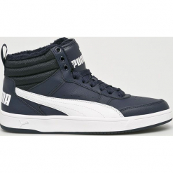 Puma - Buty Rebound Street v2. Szare buty sportowe męskie Puma, z gumy. Za 299.90 zł.