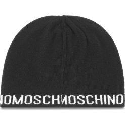 Czapka MOSCHINO - 65131 M1880 016. Czarne czapki i kapelusze damskie MOSCHINO, z kaszmiru. Za 279.00 zł.