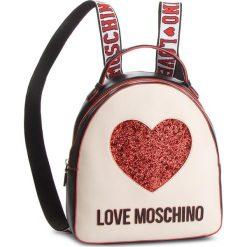 Plecak LOVE MOSCHINO - JC4116PP17L3100A  Nero/Avorio. Brązowe plecaki damskie Love Moschino, ze skóry ekologicznej. Za 779.00 zł.