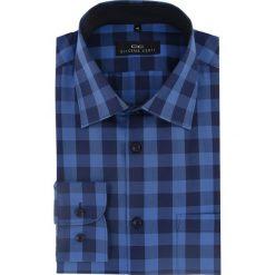 Koszula APOLLO 16-04-35-K. Niebieskie koszule męskie Giacomo Conti, z bawełny, z włoskim kołnierzykiem, z długim rękawem. Za 199.00 zł.