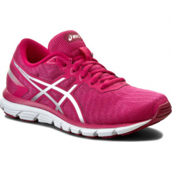 Buty ASICS - Gel-Zaraca 5 T6G8N Sport Pink/Silver/Cerise 1993. Czerwone obuwie sportowe damskie Asics, z materiału. W wyprzedaży za 209.00 zł.