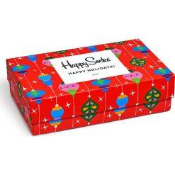 Happy Socks - Skarpetki Singing Holiday Gift Box (3-pak). Czerwone skarpety damskie Happy Socks. Za 119.90 zł.