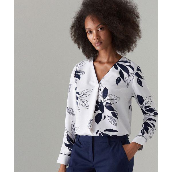 f9750f00bfd1b8 Elegancka bluzka w kwiaty - Biały - Bluzki damskie Mohito. Za 59.99 ...