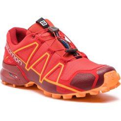 Buty SALOMON - Speedcross 4 404657 27 V0 High Risk Red/Red Dahlia/Tangelo. Czerwone buty sportowe męskie Salomon, z materiału. W wyprzedaży za 379.00 zł.