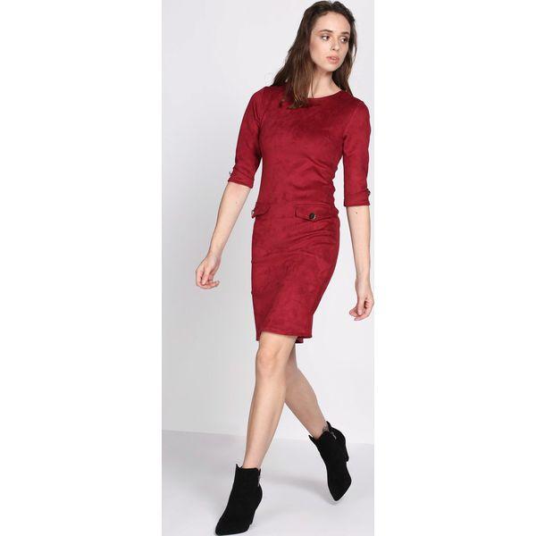 e57c5f7ed690 Bordowa Sukienka Reach For Me - Sukienki damskie marki Born2be. Za ...
