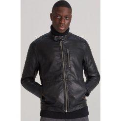 Czarne kurtki i płaszcze męskie Reserved Kolekcja zima