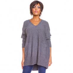 """Sweter """"Lolita"""" w kolorze szarym. Szare swetry damskie So Cachemire, z kaszmiru. W wyprzedaży za 186.95 zł."""