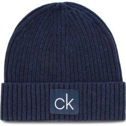Czapka CALVIN KLEIN - Basic Rib Beanie K50K504096 448. Niebieskie czapki i kapelusze męskie Calvin Klein. Za 179.00 zł.