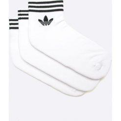 Adidas Originals - Skarpetki (3-Pack). Białe skarpety damskie adidas Originals, z bawełny. W wyprzedaży za 39.90 zł.