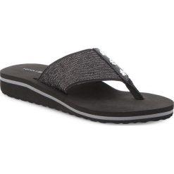 Japonki TOMMY HILFIGER - Elevated Metallic Beach Sandal FW0FW02393 Black 990. Czarne klapki damskie Tommy Hilfiger, z materiału. W wyprzedaży za 129.00 zł.