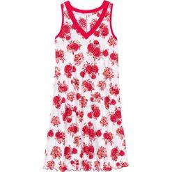 Koszula nocna bonprix biało-czerwony w kwiaty. Białe koszule nocne damskie bonprix, w kwiaty. Za 44.99 zł.