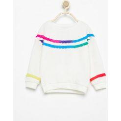 Bluza z pomponami - Kremowy. Bluzy dla niemowląt Reserved. Za 29.99 zł.