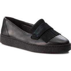 Półbuty CLARKS - Lillia Lottie 261308364  Black Combi Leather. Czarne półbuty damskie Clarks, ze skóry ekologicznej. W wyprzedaży za 199.00 zł.