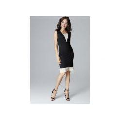 Sukienka L016 Czarny. Czarne sukienki damskie Lenitif, z szyfonu, eleganckie. Za 159.00 zł.