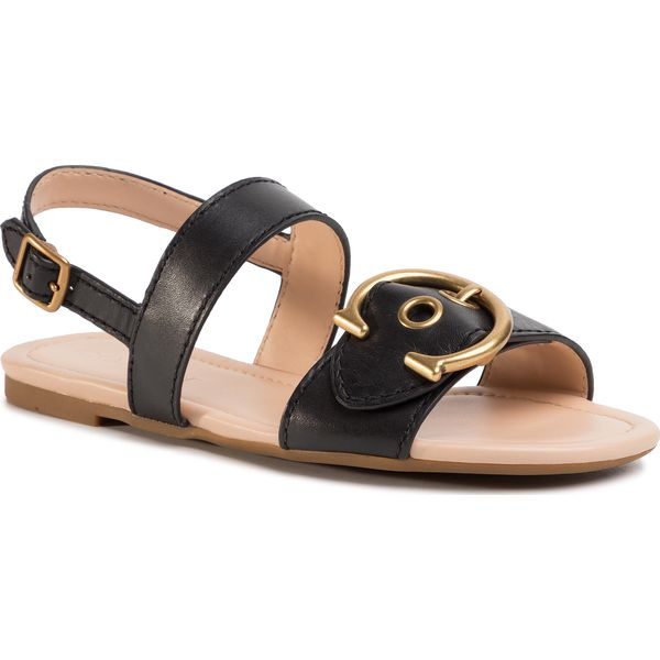 Sandały COACH Jeri Leather Sandal G4910 11002650 Black