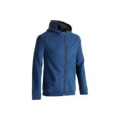 Bluza na zamek z kapturem Gym & Pilates 500 męska. Niebieskie bluzy męskie DOMYOS, z bawełny. Za 64.99 zł.