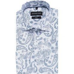 Koszula SIMONE slim KDWS000338. Niebieskie koszule męskie Giacomo Conti, paisley, z włoskim kołnierzykiem. Za 149.00 zł.