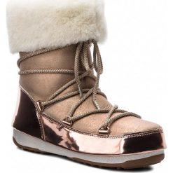 Śniegowce MOON BOOT - Rose Mirror 24008200001 Pink. Czerwone kozaki damskie Moon Boot, z nubiku. Za 1,549.00 zł.