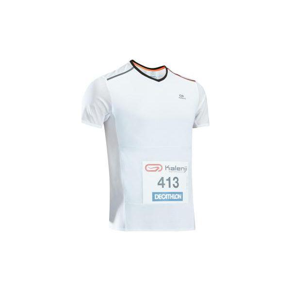 76bfee932461e0 Koszulka do biegania Kiprun męska - Białe koszulki sportowe męskie ...