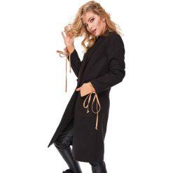 Klasyczny płaszcz flauszowy oll52. Czarne płaszcze damskie LaLa, klasyczne. Za 279.00 zł.