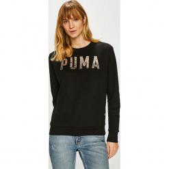 Puma - Bluza. Czarne bluzy damskie Puma, z nadrukiem, z bawełny. Za 199.90 zł.