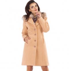Płaszcz w kolorze beżowym. Brązowe płaszcze damskie Ryłko by Agnes & Paul. W wyprzedaży za 339.95 zł.
