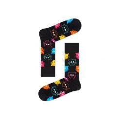 Skarpetki Happy Socks - Animal (MJA01-9001). Szare skarpety męskie Happy Socks, w kolorowe wzory, z bawełny. Za 34.90 zł.