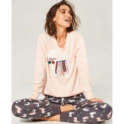 Piżama ze spodniami - Różowy. Czerwone piżamy damskie Reserved. Za 129.99 zł.