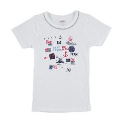 Koszulka w kolorze białym. T-shirty dla chłopców marki Reserved. W wyprzedaży za 12.95 zł.