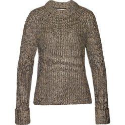 Sweter z metaliczną nitką bonprix brunatny. Brązowe swetry damskie bonprix, z dzianiny. Za 129.99 zł.
