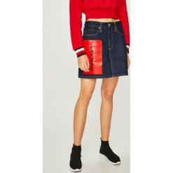 Calvin Klein Jeans - Spódnica. Szare spódnice damskie Calvin Klein Jeans, z bawełny. Za 449.90 zł.