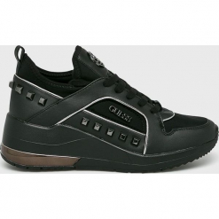 Guess Jeans - Buty. Czarne obuwie sportowe damskie Guess Jeans, z aplikacjami, z gumy. Za 629.90 zł.