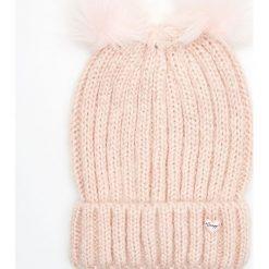 Czapka z dwoma pomponami - Różowy. Czerwone czapki i kapelusze damskie Cropp. Za 34.99 zł.