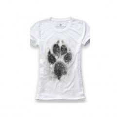 Koszulka UNDERWORLD Ring spun cotton Łapa. Białe t-shirty damskie Underworld, z nadrukiem, z bawełny. Za 59.99 zł.