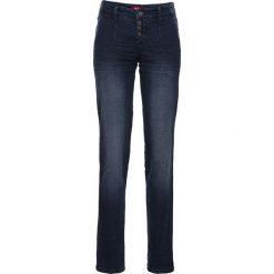 Miękkie dżinsy ze stretchem chino bonprix ciemnoniebieski. Jeansy damskie marki bonprix. Za 89.99 zł.