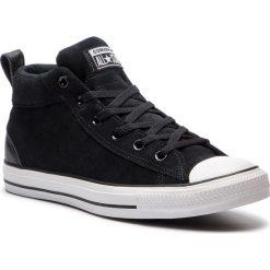 Trampki CONVERSE - Ctas Street Mid 161465C Black/Black/White. Czarne trampki męskie Converse, z gumy. W wyprzedaży za 239.00 zł.