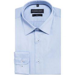 Koszula SIMONE KDNS000164. Niebieskie koszule męskie Giacomo Conti, z bawełny, z klasycznym kołnierzykiem, z długim rękawem. Za 169.00 zł.
