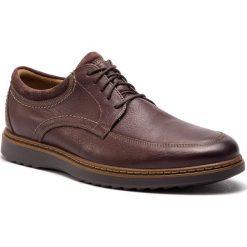 Półbuty CLARKS - Un Geo Leo 261367977 Dark Brown Leather. Brązowe półbuty na co dzień męskie Clarks, z materiału. W wyprzedaży za 319.00 zł.