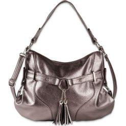 Torebka bonprix szarobrązowy metaliczny - srebrny metaliczny. Brązowe torebki do ręki damskie bonprix. Za 129.99 zł.
